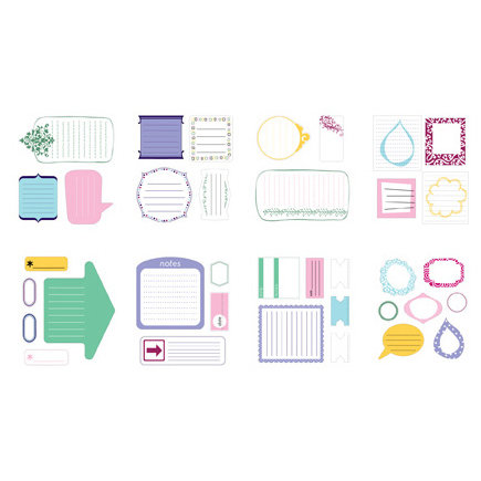 American Crafts - Remarks - Stickers Book - Journaling 2 - Color Sets 2 and 4
