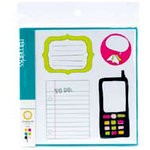 American Crafts - Teen Collection - Remarks - Journaling Sticker Book - Color, CLEARANCE