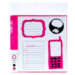 American Crafts - Teen Collection - Remarks - Journaling Sticker Book - Black and Taffy, CLEARANCE