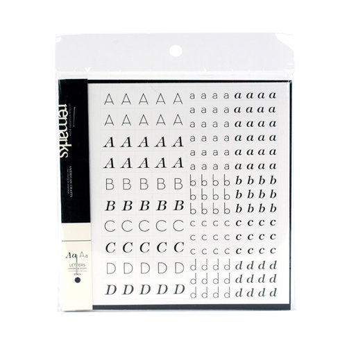 American Crafts - Baby Collection - Remarks -Transparent Letter Sticker Book - Hannah & Henry - Black, CLEARANCE