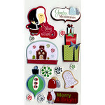 American Crafts - Merrymint Collection - Christmas - Remarks - 3 Dimensional Stickers - Mixed Nuts, CLEARANCE