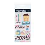 American Crafts - Abode Collection - Remarks - Phrase Stickers with Glitter Accents - Spoon, CLEARANCE