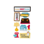 American Crafts - Abode Collection - Remarks - 3 Dimensional Stickers with Glitter and Varnish Accents - Whisk, CLEARANCE