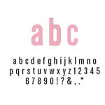 American Crafts - Remarks - Thickers Foam Letter Stickers - Daiquiri Pink, CLEARANCE