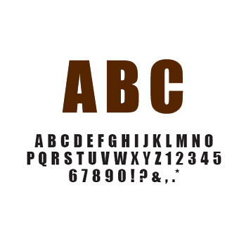 American Crafts - Remarks - Thickers Foam Letter Stickers - Latte Light Brown, CLEARANCE
