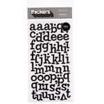 American Crafts - Thickers - Vinyl Letter Stickers - Sprinkles - Black, CLEARANCE