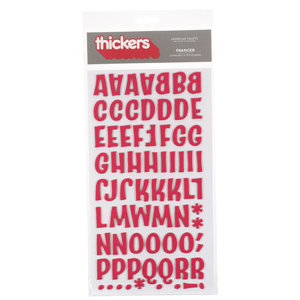 American Crafts - Thickers - Chipboard Letter Stickers - Prancer - Red