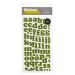 American Crafts - Thickers - Felt Letter Stickers - Leg Warmers - Green