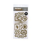 American Crafts - Thickers - Chipboard Shape Stickers - Accents - Gold, CLEARANCE