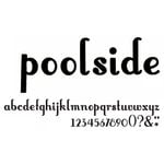 American Crafts - Thickers - Vinyl Letter Stickers - Poolside - Black, CLEARANCE