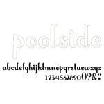 American Crafts - Thickers - Vinyl Letter Stickers - Poolside - White