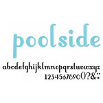 American Crafts - Thickers - Vinyl Letter Stickers - Poolside - Powder