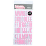 American Crafts - Glitter Chipboard Thickers - Shoe Box - Bubble, CLEARANCE