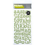 American Crafts - Glitter Chipboard Thickers - Sprinkles - Cucumber