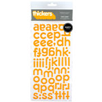 American Crafts - Puffy Thickers - City Slicker Letter Stickers -Chit Chat - Tangerine, CLEARANCE