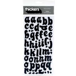 American Crafts - Thickers - Chipboard Glitter Letter Stickers - Tiara - Black, CLEARANCE