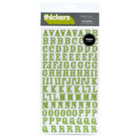 American Crafts - Thickers - Foam Alphabet Stickers - Rockabye - Leaf
