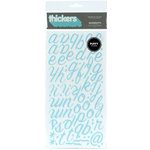 American Crafts - Thickers - Puffy Alphabet Stickers - Rainboots - Powder