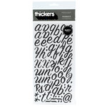 American Crafts - Thickers - Puffy Alphabet Stickers - Rainboots - Black, CLEARANCE
