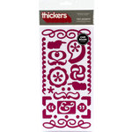American Crafts - Thickers - Chipboard Stickers -Text Accents - Mulberry, CLEARANCE