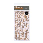 American Crafts - Botanique Collection - Thickers - Puffy Alphabet Stickers - Honey - Metallic Copper, CLEARANCE