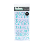 American Crafts - Thickers - Glitter Puffy Alphabet Stickers - Mirror Mirror - Robin's Egg, CLEARANCE