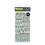 American Crafts - Thickers - Glossy Chipboard Alphabet Stickers - Nutmeg - Spinach, CLEARANCE
