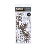 American Crafts - Thickers - Glossy Chipboard Alphabet Stickers - Nutmeg - Chestnut, CLEARANCE