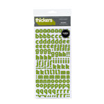 American Crafts - Thickers - Fabric Alphabet Stickers - Delight - Leaf, CLEARANCE