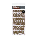 American Crafts - Thickers - Foam Alphabet Stickers - Daydream - Chestnut, CLEARANCE