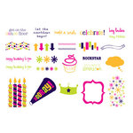 American Crafts - MiniMarks - Rub-On Transfers - Celebration - Book 4 Color, CLEARANCE