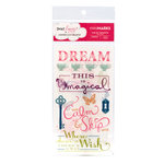American Crafts - Dear Lizzy Enchanted Collection - MiniMarks -  Rub On Transfers - Damsel Phrases and Accents, CLEARANCE