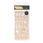 American Crafts - Letterbox Collection - Thickers - Patterned Chipboard Alphabet Stickers - Regards - Honey, CLEARANCE