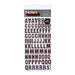 American Crafts - Abode Collection - Thickers - Glossy Chipboard Alphabet Stickers - Apartment - Coffee, CLEARANCE
