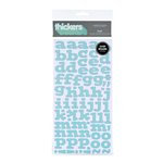 American Crafts - Abode Collection - Thickers - Patterned Chipboard Alphabet Stickers - Flat - Robins Egg, CLEARANCE