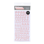 American Crafts - I Do Collection - Thickers - Pearl Chipboard Alphabet Stickers - Marquise - Rose, CLEARANCE
