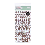 American Crafts - Dear Lizzy Spring Collection - Thickers - Glitter Chipboard Alphabet Stickers - Bliss - Coffee, CLEARANCE