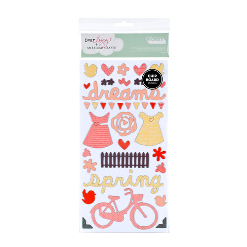American Crafts - Dear Lizzy Spring Collection - Thickers - Chipboard Shape Stickers - Bliss Accents - Multi, CLEARANCE
