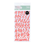 American Crafts - Dear Lizzy Spring Collection - Thickers - Puffy Alphabet Stickers - Berry - Fireberry, CLEARANCE
