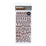American Crafts - Heat Wave Collection - Thickers - Glitter Chipboard Alphabet Stickers - Niki Riki - Brown, CLEARANCE