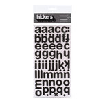 American Crafts - Thickers - Foam Alphabet Stickers - Cinnamon - Black, CLEARANCE