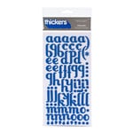 American Crafts - Thickers - Glitter Foam Alphabet Stickers - Poolside - Marine, CLEARANCE
