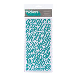 American Crafts - Thickers - Glitter Foam Alphabet Stickers - Rainboots - Aqua, CLEARANCE