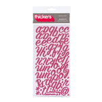 American Crafts - Thickers - Glitter Foam Alphabet Stickers - Rainboots - Raspberry, CLEARANCE