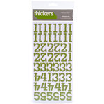 American Crafts - Thickers - Glitter Chipboard Number Stickers - Sprinkles - Cucumber