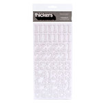 American Crafts - Thickers - Glitter Chipboard Number Stickers - Sprinkles - White, CLEARANCE