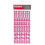 American Crafts - Thickers - Glitter Chipboard Number Stickers - Roller Rink - Taffy