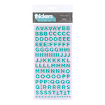 American Crafts - Love Collection - Thickers - Chipboard Alphabet Stickers - Sweet - Bermuda