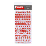 American Crafts - Love Collection - Thickers - Chipboard Alphabet Stickers - Sweet - Tomato
