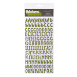 American Crafts - Boo Collection - Halloween - Thickers - Glossy Printed Chipboard Alphabet Stickers - Bones - Leaf, CLEARANCE
